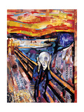 The Scream Giclee Print by James Grey