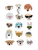 Dogs with Glasses Posters by Hanna Melin