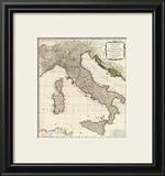 New Map of Italy with the Islands of Sicily, Sardinia and Corsica, c.1790 Poster by Thomas Kitchin