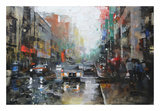 Montreal Rain Print by Mark Lague