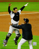 Jorge Posada Game Six of the 2009 MLB World Series Celebration Photo