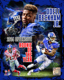 Odell Beckham Jr. 2014 NFL Offensive Rookie Of The Year Portrait Plus Photo