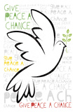 Give Peace A Chance Reproduction procédé giclée par Sasha Blake