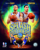 Stephen Curry & Klay Thompson Splash Brothers Portrait Plus Photo