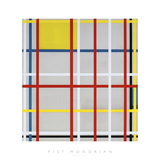 New York City, 3 Giclee Print by Piet Mondrian