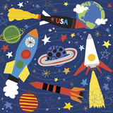 Space Explorer II Print by Lesley Grainger