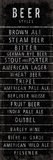 Beer Styles - Blackboard Giclee Print by  The Vintage Collection