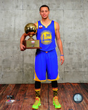 Stephen Curry with the 3 Point Contest Trophy 2015 NBA All-Star Game Photo