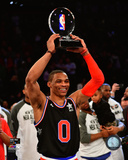 Russell Westbrook with the 2015 NBA All-Star Game MVP Trophy Photo