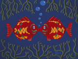 Fishes' Kisses Giclee Print by Brian Pollard