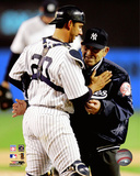 Yogi Berra & Jorge Posada 2005 Action Photo