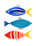 Summer Fish Trio Art by Margaret Berg