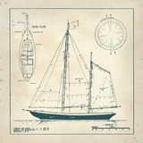 Nautical Blueprint III Plakater av  The Vintage Collection