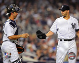 Jorge Posada & Andy Pettitte 2009 Action Photo