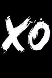 XO Black Plastic Sign by  NaxArt