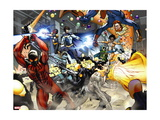 New Warriors No. 4: Justice, Speedball, Haechi, Sun Girl, Nova, Scarlet Spider, Water Snake Metal Print