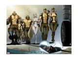 Astonishing X-Men: Xenogenesis No. 1: Beast, Armor, Wolverine, Frost, Emma, Cyclops, Storm Metal Print
