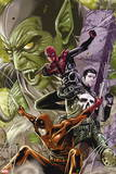 Superior Spider-Man Team-Up No. 10: Punisher, Spider-Man, Daredevil, Green Goblin Plastic Sign