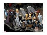 All-New X-Men No. 1: Beast, Grey, Jean, Cyclops, Iceman, Angel, Magneto, Magik, Frost, Emma Metal Print