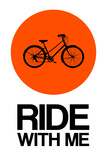 Ride with Me Circle 1 Plastic Sign by  NaxArt
