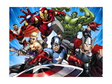 Avengers Assemble - Situational Art Metal Print