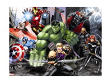Avengers Assemble - Situational Art Metalldrucke