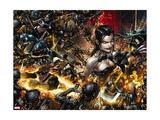 X Necrosha No. 1: Wolverine, Magik, Rogue, Selene, Warpath, Archangel, X-23, Cannonball Metal Print