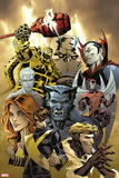 X-Factor Forever No. 4: Cyclops, Beast, Grey, Jean, Sabretooth, Archangel, Iceman Plastic Sign