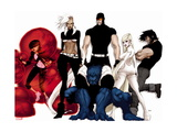 Astonishing X-Men: Xenogenesis No. 1: Armor, Storm, Beast, Cyclops, Frost, Emma, Wolverine Metal Print