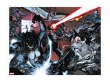 All-New X-Men No. 20: Cyclops, X-23, Pryde, Kitty, Grey, Jean, Angel, Beast, Iceman Metal Print