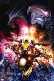 Avengers vs. X-Men No. 12: Iron Man, Summers, Hope, Scarlet Witch Wall Sign