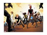 Ultimate Comics X-Men No. 24: Storm, Hudson, James, Blackheath, Rogue, Pryde, Kitty Metal Print