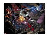 X-Men: Battle of the Atom No. 1: Beast, Sentinel, Iceman, Deadpool, Grey, Jean Metal Print