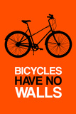 Bicycles Have No Walls 1 Plastic Sign by  NaxArt