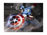 Avengers Assemble - Situational Art Reproduction sur métal