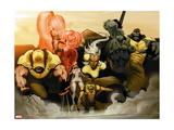 Astonishing X-Men: Xenogenesis No. 2: Wolverine, Armor, Frost, Emma, Storm, Cyclops, Beast Metal Print