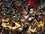 X Necrosha No. 1: Wolverine, Magik, Rogue, Selene, Warpath, Archangel, X-23, Cannonball Wall Decal