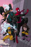Avenging Spider-Man No. 16: Spider-Man, Storm, Beast, Iceman, Wolverine, Shadowcat, Lockheed Plastic Sign