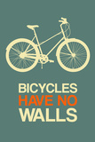 Bicycles Have No Walls 3 Plastic Sign by  NaxArt