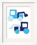 Blue Tractors Prints by  Avalisa