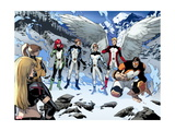All-New X-Men No. 18: Pryde, Kitty, Beast, Grey, Jean, Cyclops, Iceman, Magik, Angel Metal Print