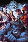 X-Men: Battle of the Atom No. 1: Beast, Grey, Jean, Xavier, Hayes, Molly, Iceman, Deadpool Plastic Sign