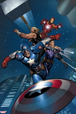 Avengers Assemble - 2014 Color Panel Art Wall Sign