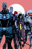 Secret Avengers No. 1: Nick Fury, Hawkeye, Black Widow, Spider Woman, Agent Phil Coulson, M.O.D.O.K Plastic Sign