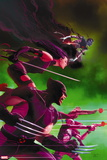 Uncanny X-Force No. 25: Wolverine, Psylocke, Deadpool, Nightcrawler, Fantomax Plastic Sign
