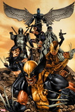 "Wolverine: The Road to Hell No. 1"" Wolverine, X-23, Daken, Deadpool, Psylocke, Archangel, Fantomax Plastic Sign"