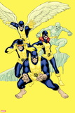 X-Men: Battle of the Atom No. 1: Beast, Cyclops, Grey, Jean, Angel, Iceman Plastic Sign