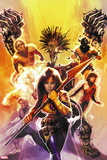 New Mutants No. 15: Moonstar, Cannonball, Karma, Magma, Cypher, Warlock, Sunspot Wall Decal