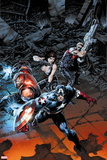 Ultimate Comics Ultimates No. 23: Iron Man, Captain America, Black Widow Plastic Sign
