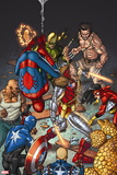 Wolverines Weapon X No. 15: Deathlok, Spider-Man, Wolverine, Iron Fist, Cage, Luke, Spider Woman Wall Sign